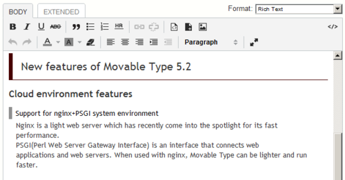 MovableType org – Documentation: Creating and Publishing Pages